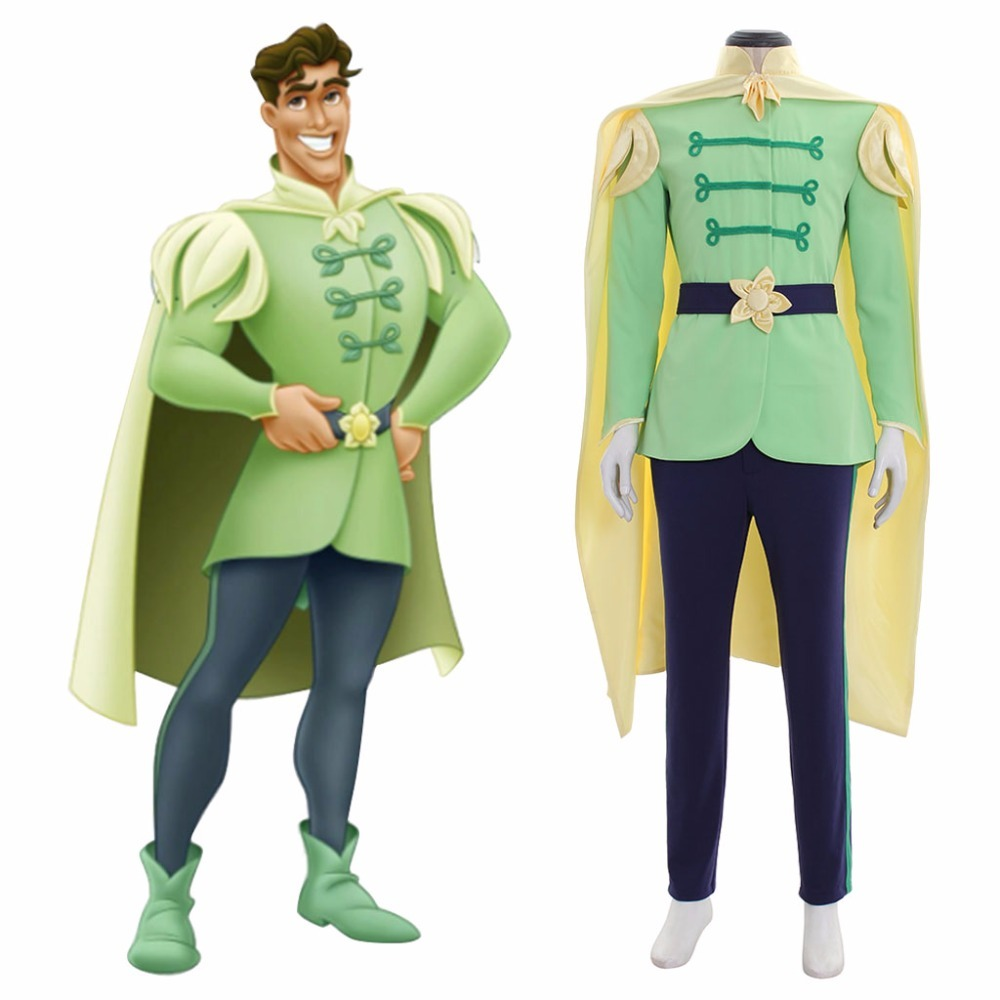 Prince Naveen Costume Men Suit Halloween Party Outfit Custom Any Size