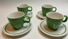 Starbucks 2004 At Home Collection Cappuccino Coffee Tea Cup Saucer Set 4... - $60.78