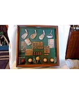 Vintage Antique History of Golf Collectible Shadow Box Wood Framed Hanging case - $163.35