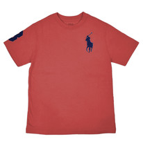 Polo Ralph Lauren Boys Red Big Pony Short Sleeve Tee Shirt Sz XL 18-20  ... - $18.50
