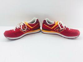 New Balance Athletic Sneaker Shoes Men's Sz 11.5 Red Orange ML574PPR  574 EUC image 6