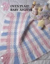 Woven Plaid Baby Afghan, Annie's Crochet Quilt Afghan Pattern Leaflet QAC327-05 - $2.95