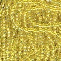 Seed bead rocaille full hank yellow 4 thumb200