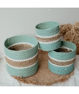 1 Set of 3 Basket Eliot Tosca Middle List Mix Seagrass #VBE6 - $31.99