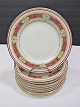 9 Limoges Raphael Chas Ahrenfeldt Side Bread Plates Maroon Red Gold Urn ... - $59.40