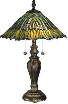 Dale Tiffany Leavesley Table Lamp  Fieldstone  Green/Yellow - $574.00