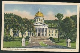 Vermont State Capitol Montpelier VT Vintage Curteich 1935 Linen Unused P... - $3.90