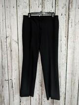CS Women's Sz 8P 8 Petite Ann Taylor LOFT Black Wide Leg Dress Pants Sla... - $13.99
