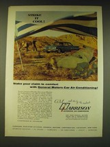 1960 GM Harrison Air Conditioning Ad - Stake your claim to comfort - $14.99