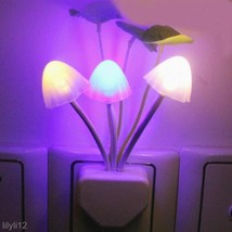 EU/US Baby Kids Night Lamp Romantic Colorful LED Mushroom Night Light Ho... - $1.75+