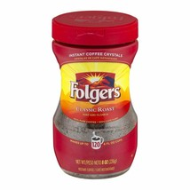 Folgers Instant Coffee Crystals Classic Roast, 8 OZ Jar, Case of Six Jars - $62.03