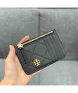 Tory Burch Georgia Top-Zip Leather Card Case - $80.00