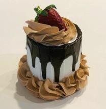 Fake Mini Cake Chocolate Drizzle Strawberry Cake Dezicakes - $19.79