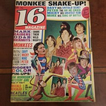 16 magazine Vol 9 #8 Jan. 1968 the Monkees Hermans Hermits  - $15.84