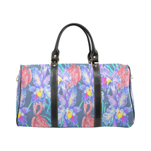 Purple Garden Pattern Gucci Style Large Travel Bag Custom Handmade Women... - $129.97