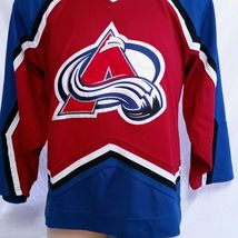 Colorado Avalanche CCM Hockey Jersey NHL Throwback VTG Authentic Mens Size Large image 6