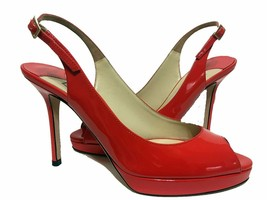 Jimmy Choo Patent Leather Platform Sandals Red Size 36 - $202.70