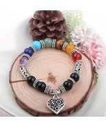 7 Chakra Reiki Healing Heart Bracelet - $26.00