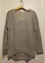 GAP Women's Sparkle Circle-hem Sweater Acrylic Wool Silver Gray Size M, NWT - $35.99
