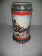 """Anheuser Busch Budweiser Clydesdale Holiday Stein """"A Perfect Christmas"""" 1992 - $6.79"""