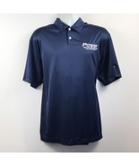 Nike Mens Large Dri Fit Golf Polo Navy Blue Poly Athletic Sports Shirt P... - $12.95