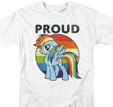 My Little Pony Pride T-shirt Rainbow Dash graphic printed cotton white tee image 1