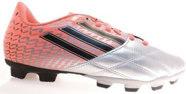 Brand New Adidas Neoride TRX FG J Boys Soccer Cleats G65066 Silver/Pink Size 3.5 - $33.40