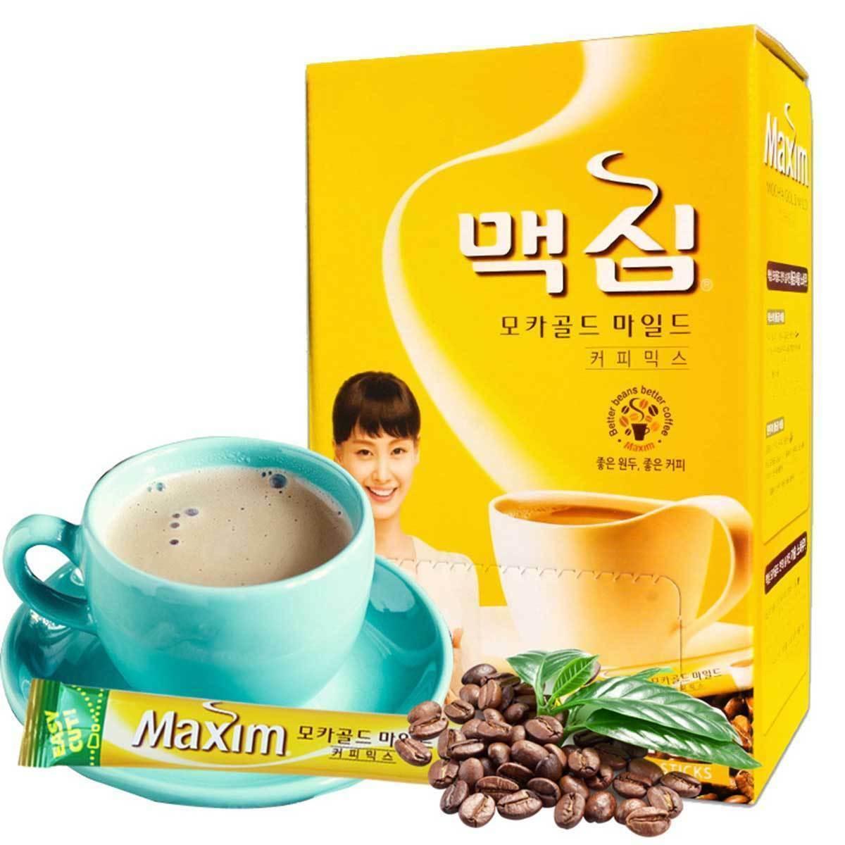 Home & Garden New Mocha Gold Light Coffee Mix 50 Sticks Instant Coffee Mix maxim
