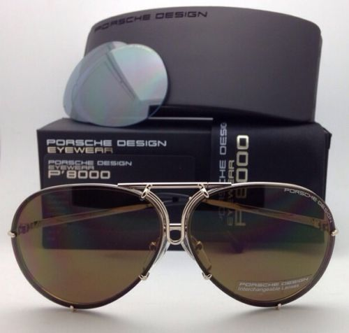 9a392ee17fa PORSCHE DESIGN Titanium Aviator Sunglasses P 8478 69-10 A-Gold with 2 Lens  Sets