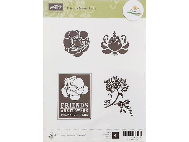Stampin' Up! Friends Never Fade Rubber Stamp Set #120618