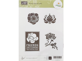 Stampin' Up! Friends Never Fade Rubber Stamp Set #120618 image 1