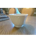 """LENOX CANTERBURY SQUARE BOWL 4-1/4"""" EMBOSSED SIDES SOLID IVORY COLORED USA - $5.89"""