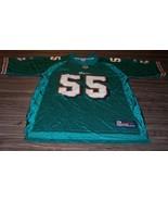 MIAMI DOLPHINS #55 JUNIOR SEAU NFL FOOTBALL JERSEY MENS ADULT LARGE Reebok - $49.50