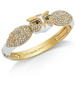 Kate Spade New York Bracelet Star Bright Owl Hinge Bangle NEW - $77.22