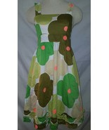 Orla Kiely Cotton RETRO Ruffle Sun Dress Yellow... - $12.99