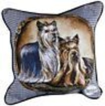 YORKIE Yorkshire Terrier Tapestry Throw Pillow Dogs New 17x17 Made in USA - $34.64