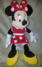 "Disney Parks Minnie Mouse 12"" Plush Red polka Dot Dress Doll Stuffed Toy - $6.38"