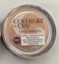 NEW CoverGirl & Olay Simply Ageless Foundation in 220 Creamy Natural (Se... - $19.79
