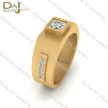 0.50tcw Simulated White Diamond Anniversary Band Gift For Him Yellow Gol... - €80,49 EUR+