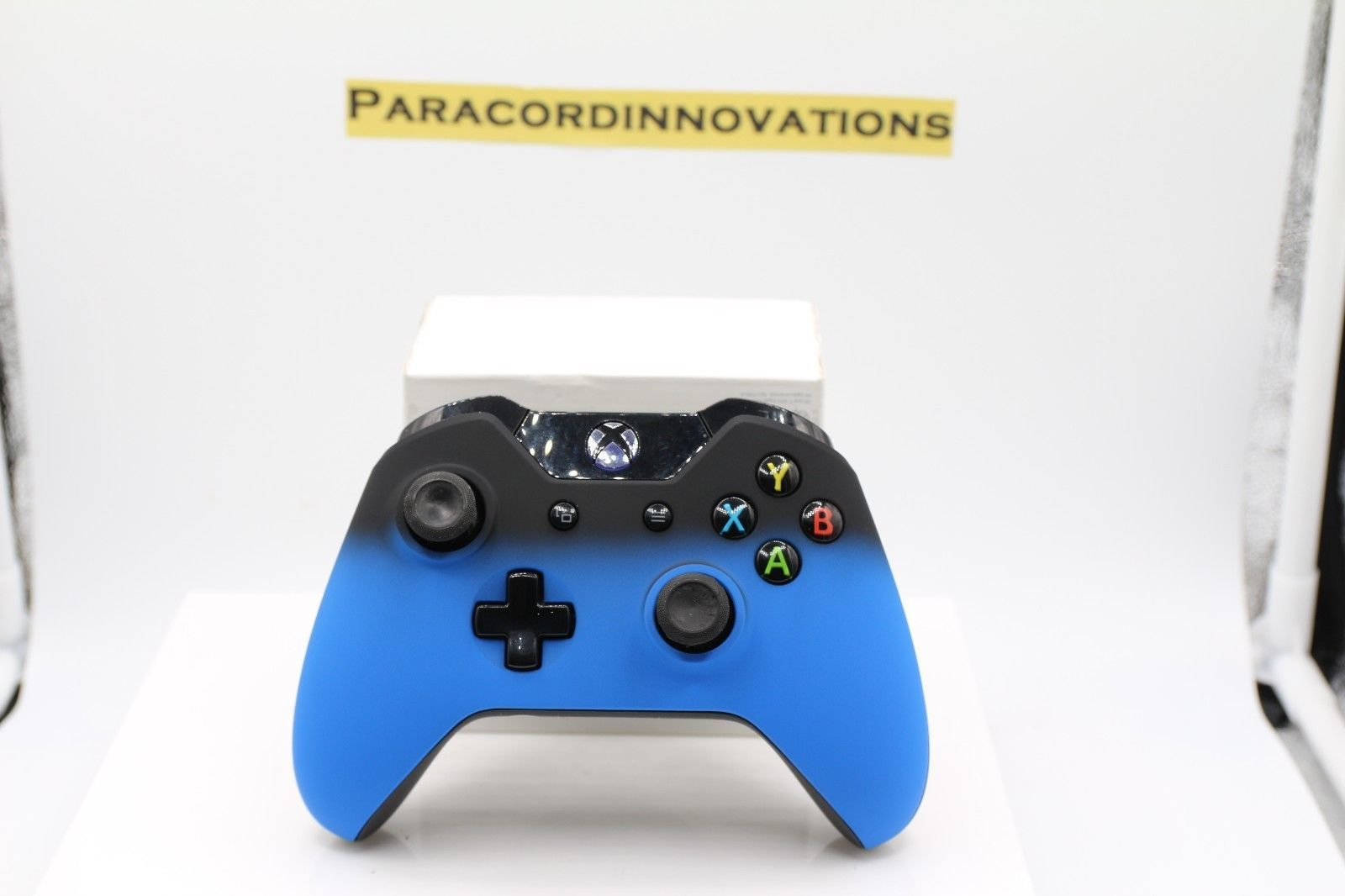 Xbox One/S/X Wireless Controller w/ST Blue Shadow Cover & Blue LED ...