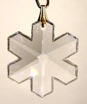 J'Leen Crystal Keyring - 30mm Clear Snowflake - $15.25