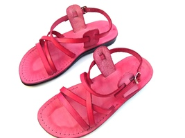 Leather Sandals for Men and Women LONDON by SANDALIM Biblical Greek Summ... - $39.44 CAD+
