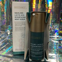 NEW IN BOX 30mL Biossance Squalane Lactic Acid Resurfacing Serum &random Sample