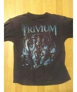 Vintage Trivium Tee Size Medium Black Band Tee 2014 Vengeance Falls Dist... - $16.82