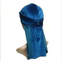New Men's Velvet Durags Wigs Doo Biker Headwear Headband Hat Hair Access... - $8.00