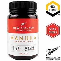 Zealand Honey Co. Raw Manuka Honey UMF 15+ / MGO 514+   17.6oz / 500g - $91.21