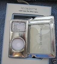 Silver Ipod Nano Travel Case New Travel ID Tag Liz CLaiborne 2nd Generation - $14.69