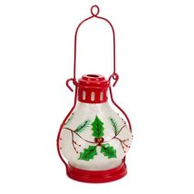"""Red and Green LED Holly Lantern (12"""") - £26.11 GBP"""