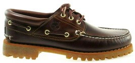 TIMBERLAND 6500A TFO CLASSIC 3 EYE LUG MEN'S BROWN LEATHER BOAT SHOES Sz... - £72.20 GBP