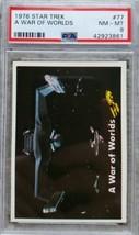 1976 Topps STAR TREK #77 A WAR OF WORLDS PSA 8 NM-MT  - $25.73